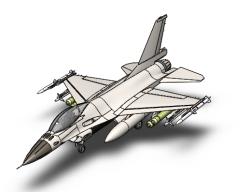 مدل آماده هواپیما جنگنده F16 در سالیدورک