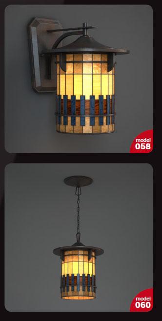 آبجکت تریدی مکس (چراغ های دیواری و محوطه ای)